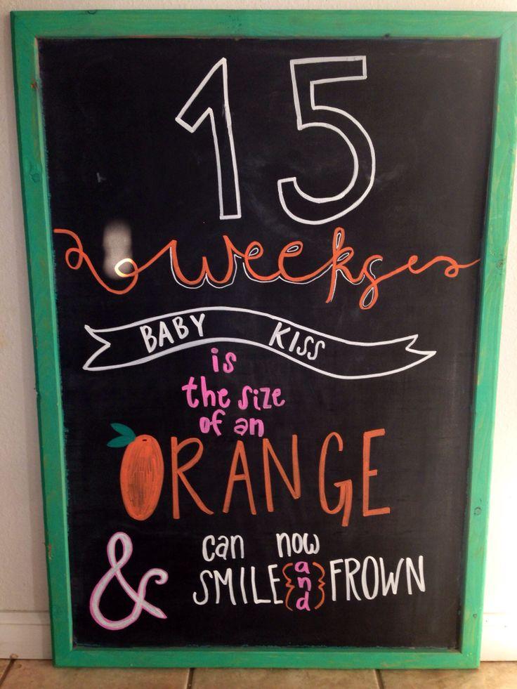 15 weeks pregnancy chalkboard