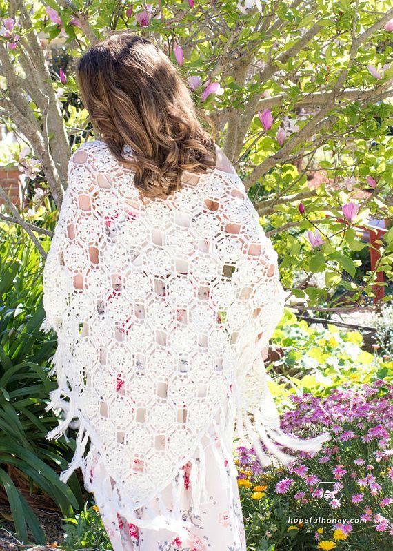 CROCHET PATTERN - The Magnolia Blossom Wrap | CROCHET SHAWLS AND ...
