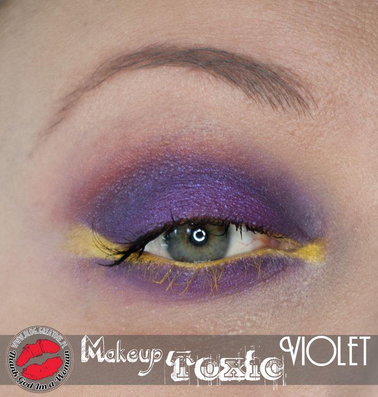 MakeUp: Toksyczny Fiolet - tutorial step by step