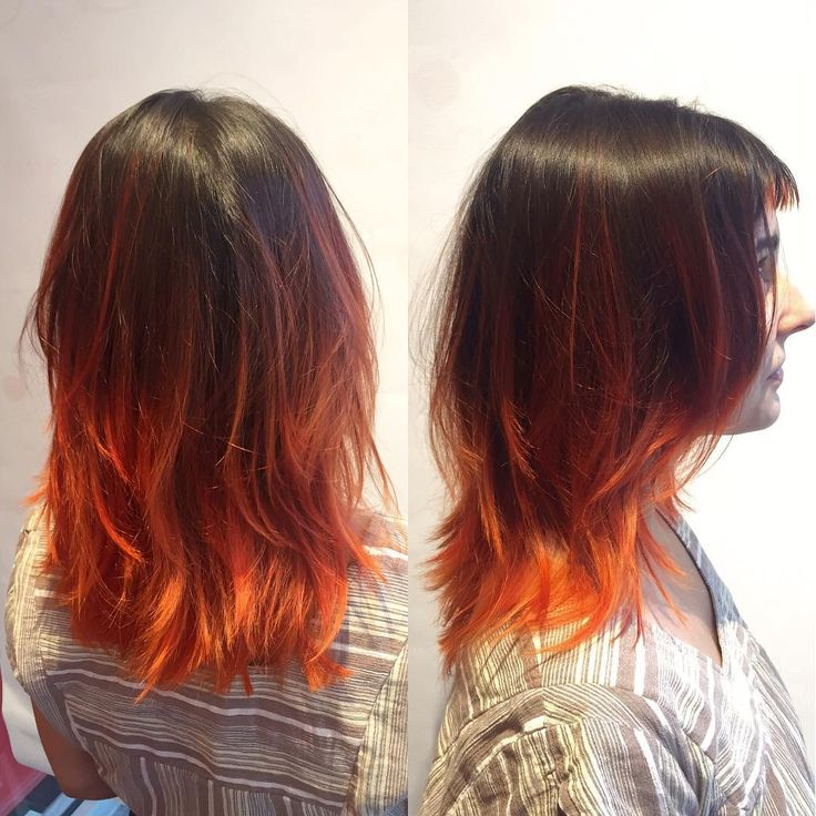 Burnt Orange Ombre Hair Hair Color Ideas And Styles For 2018