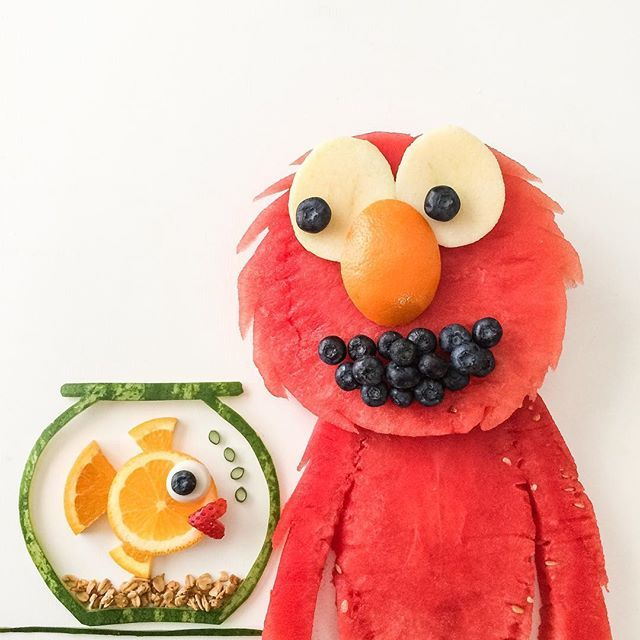 """""""Can you tell me how to get, how to get to Sesame Street? """" 🎼🎧   Fruit creations, Fun kids food ..."""