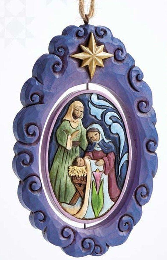 JIM SHORE ORNAMENT~HOLY FAMILY NATIVITY~SONG LYRIC~SPINNER~CHRISTMAS~NIB~4055358  | eBay