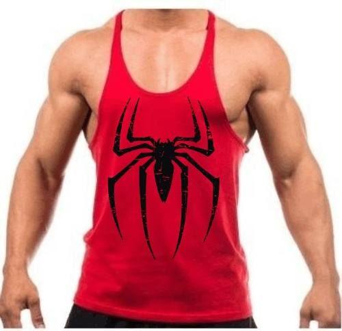 A Camiseta Regata Super Cavada Musculação Spider Man - Homem Aranha - Modelo Masculino - Cor Vermelha - 20% Off é produzida em malha fria (67% poliéster e 33% viscose). Este tecido possui um excelente caimento além de ser super confortável. Estampas confec