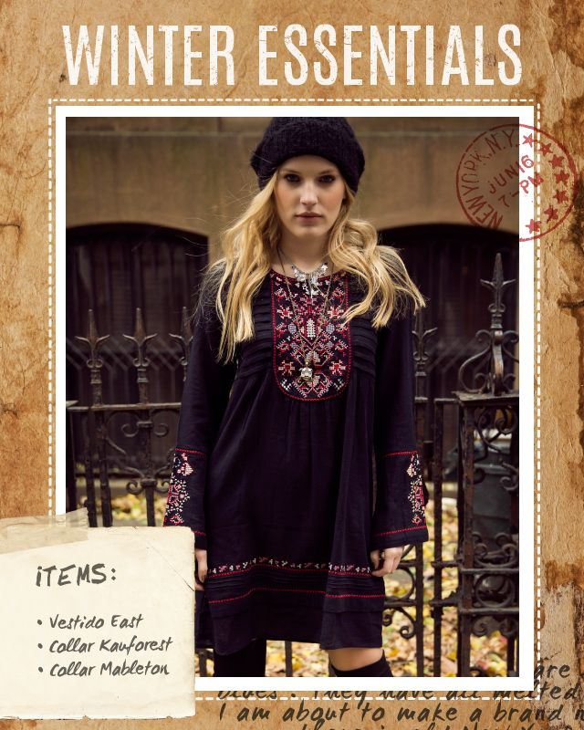 Vestido East / Collar Kauforest / Collar Mableton #winteressentials #indiastyle