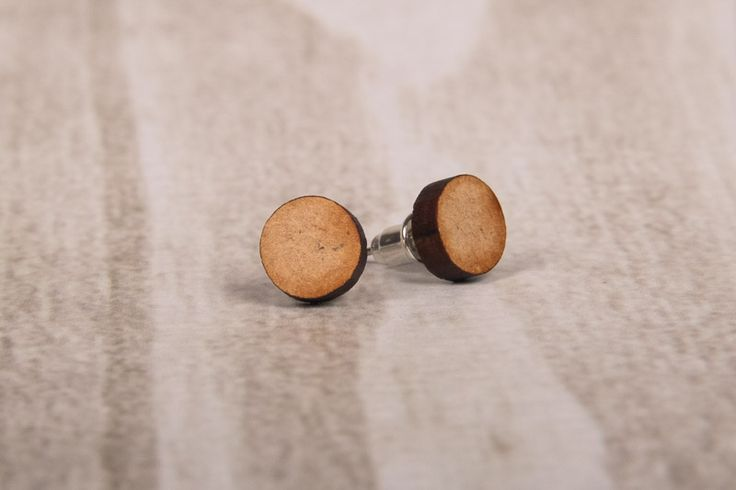Wooden Laser Cut Round Earrings Round Earrings made in South Africa