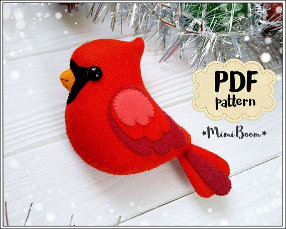 This is a digital tutorial on how to make the Cardinal Christmas ornament from felt Included step by step instructions, pictures and full size pattern pieces. (no need to enlarge or resize). Its completely hand sew and you dont need a sewing machine. THIS IS NOT A FINISHED TOY. THIS IS A