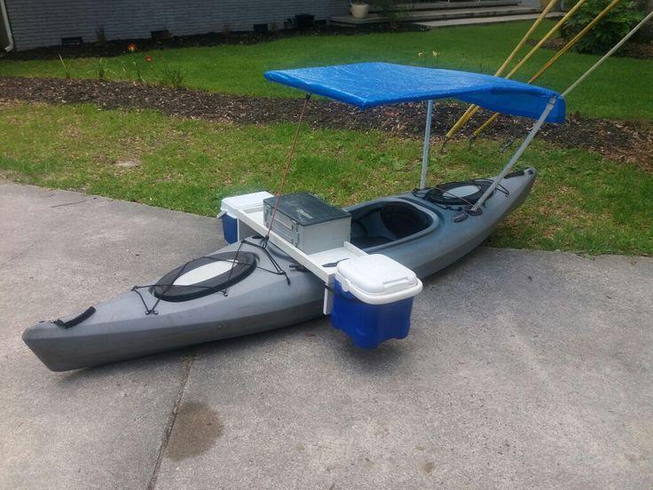 Kayak modification, fishing machine, boat mod