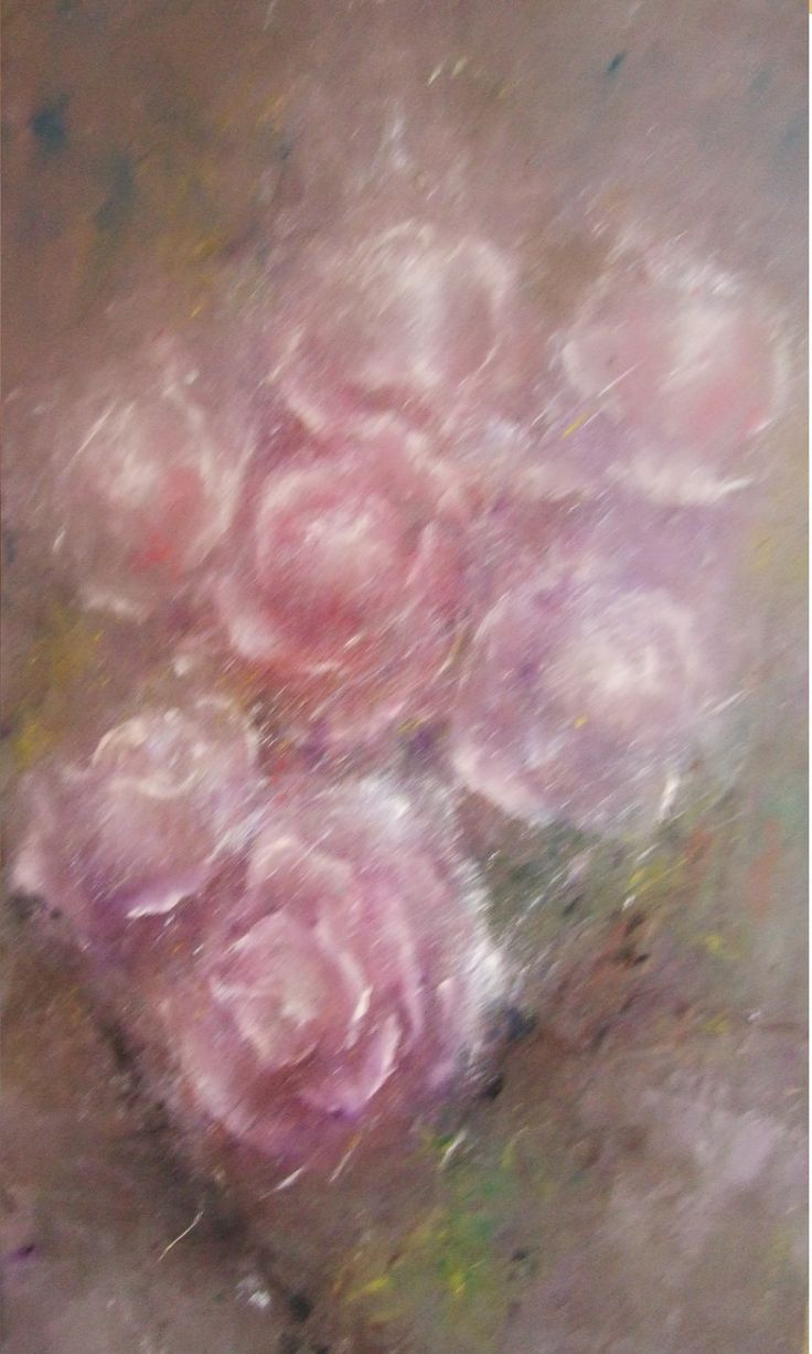 Purple roses oil painting on canvas (35/50) -to sale 300 Euro