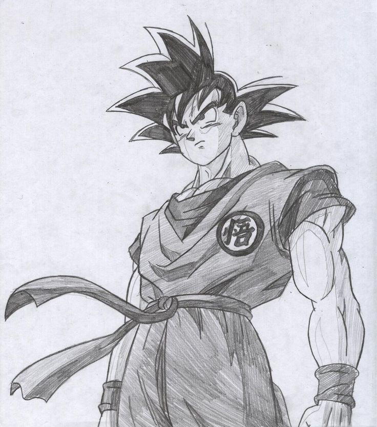 Goku drawings pencil pic 23 drawing and coloring for kids pinterest goku drawing goku and drawings