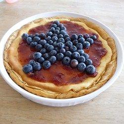 Red, White, and Blueberry Cheesecake Pie - Allrecipes.com