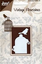 JOY CRAFTS VINTAGE FLOURISHES Die Cutting Stencil BIRD CAGE  BIRD - 6003/0034