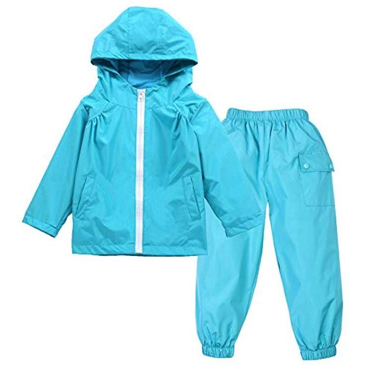 LAUSONS Regenanzug Baby Matschhose und Jacke Kinder Regenkleidung Regenjacke Was…
