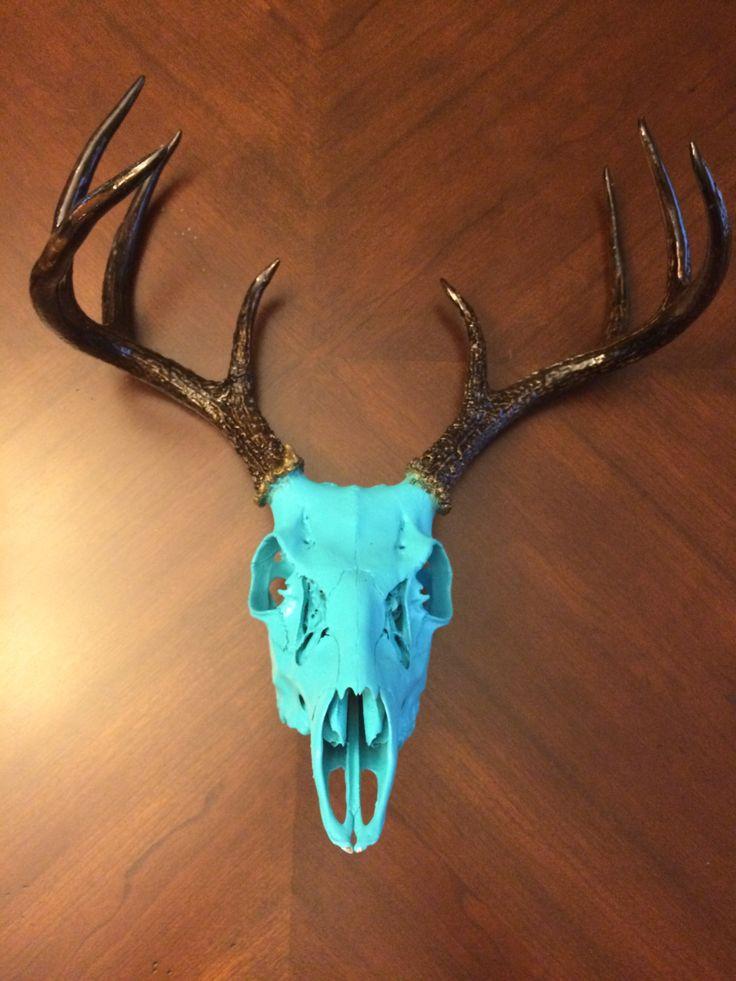 Custom Painted Deer Skull by UrbanCowboyGoods on Etsy