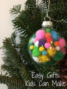 Easy Christmas Gifts Kids Can Make Diy OrnamentsOrnament