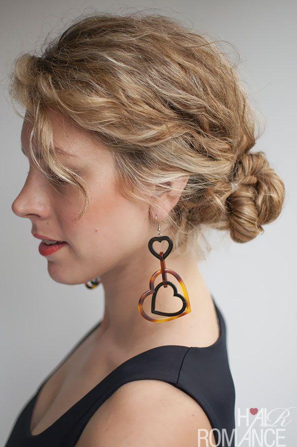 Hair Romance - rope twist braid bun tutorial in curly hair
