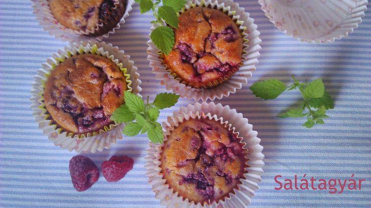 kókuszlisztes málnás paleo gluténmentes low carb diétás muffin 2