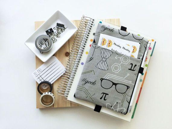 Nerd bag  Geek Bag  Journal cover  Nerd journal bag  pen
