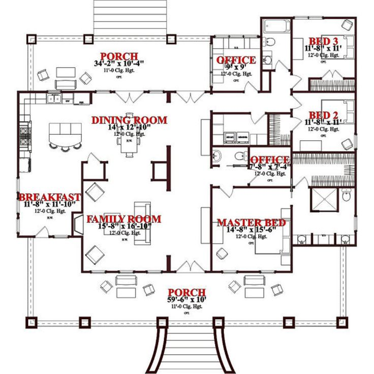 17 best images about house plans on pinterest french for Houseplans com craftsman