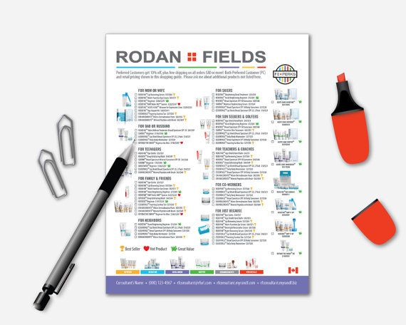 7 best images about Rodan + Fields Order Sheets on Pinterest - product order form