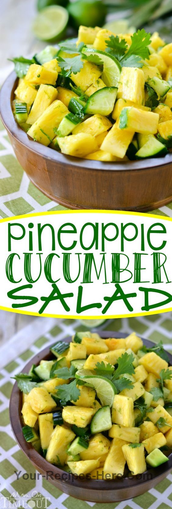 Pineapple Cucumber Lime Salad Vegan, Gluten free, Paleo Produce 1/3 cup Cilantro 1 English cucumber 2 Limes 1 Pineapple Baking & Spices 1 Salt and pepper
