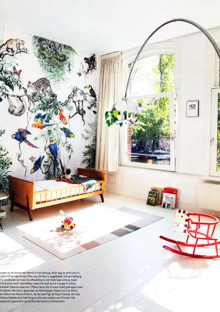 bohemian style kids bedroom in Amsterdam