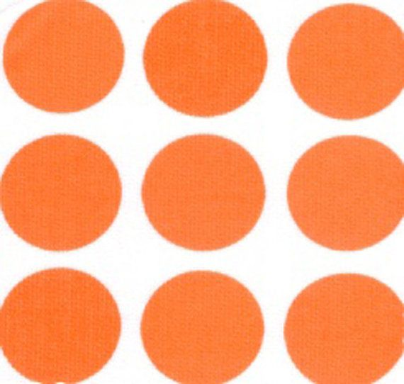 Fabric Finders 527 White Orange Polka Dot Pique Clothing Quilting Fabric BTY