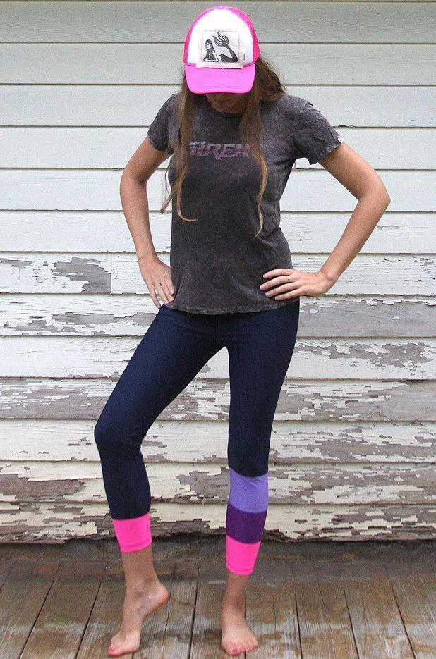 a24388b1119a9 SIREN x Salt Gypsy Surf SUP Yoga Leggings - Magenta Melon #fitness  #inspiration #