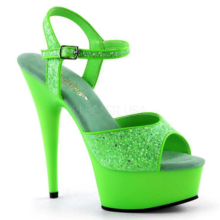 Neon Green High Heels - http://ikuzoladyshoes.com/neon-green-high-heels/