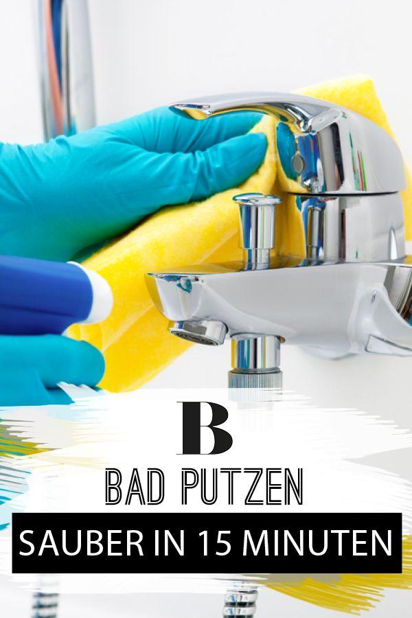 Bad putzen - blitzblank in 15 Minuten | Haushalt | Putzutensilien ...