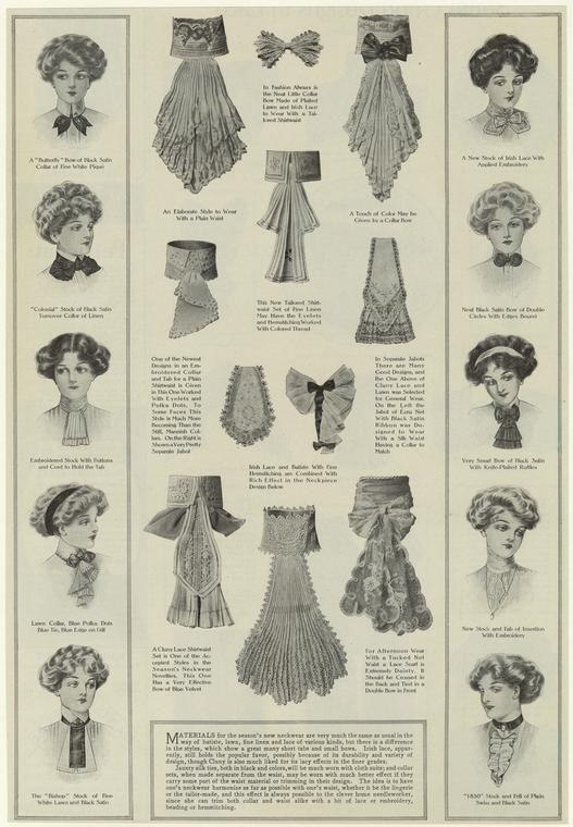 Neckwear for women, 1910s