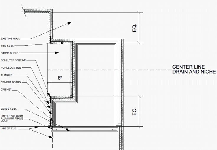 built-in shower niche construction drawings