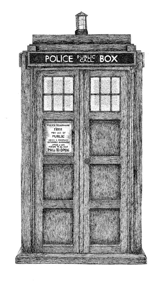 Doctor Who inspired Tardis Entryway a printable JPG by Skadoodled, $4.00