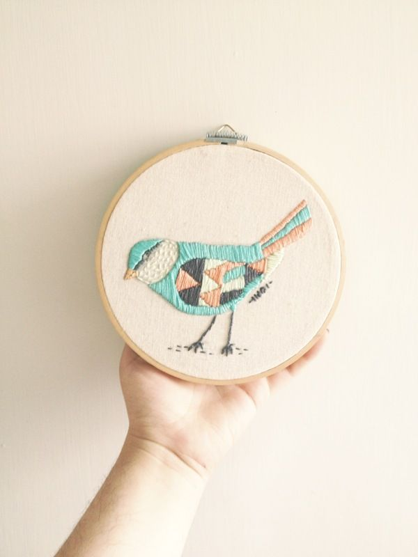 EMBROIDERY by Indi Maverick, via Behance #Embroidery #Bird