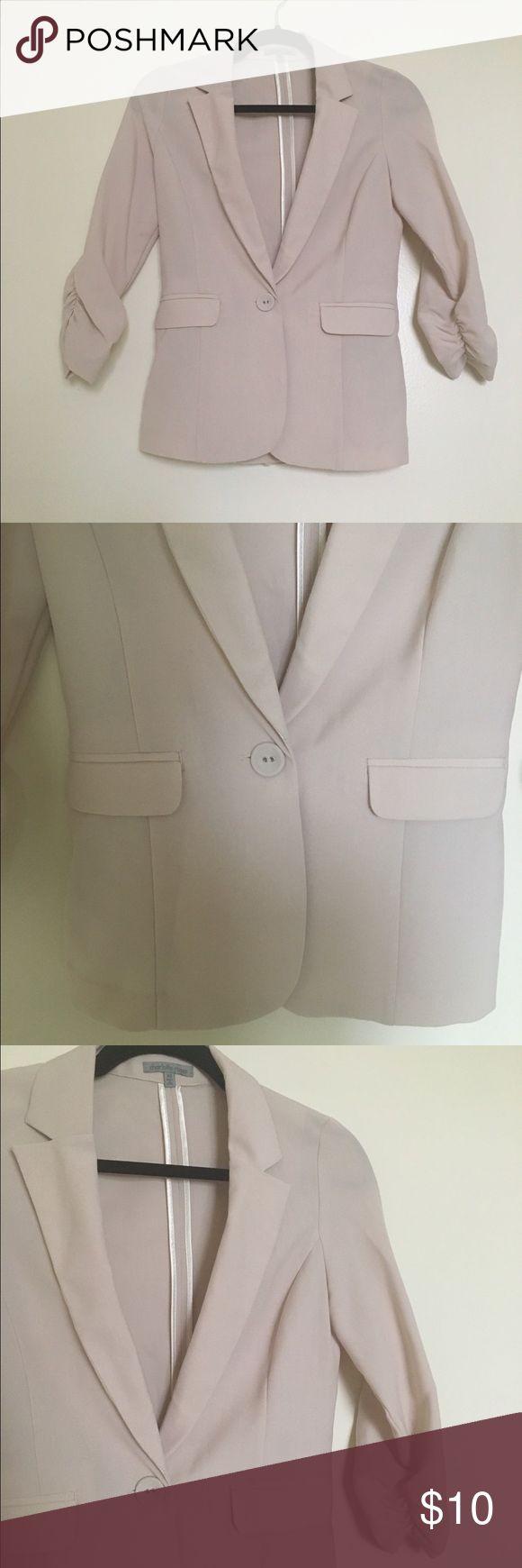 Light pink blazer One button, two pockets blazer. Charlotte Russe Jackets & Coats Blazers
