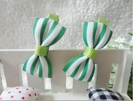 Green Stripes Hair Clips - Baby Girls Accessories  http://www.adamandevebabywear.com.au/p/7606027/green-stripes-hair-clips---baby-girls-accessories.html