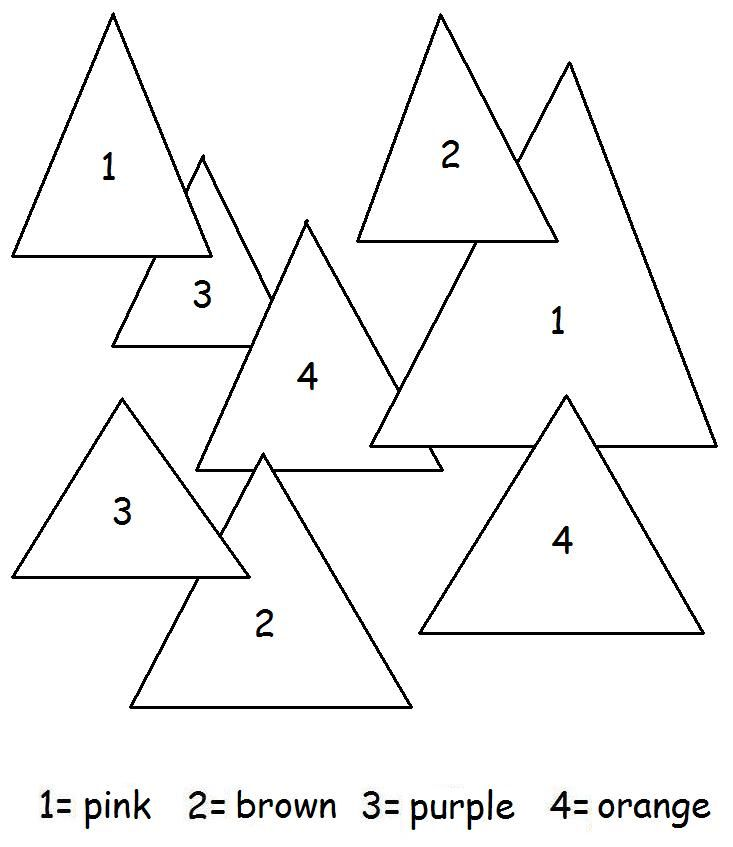 Triangle Worksheets And Coloring Pages Kids Shapes Theme Triangle Coloring Page