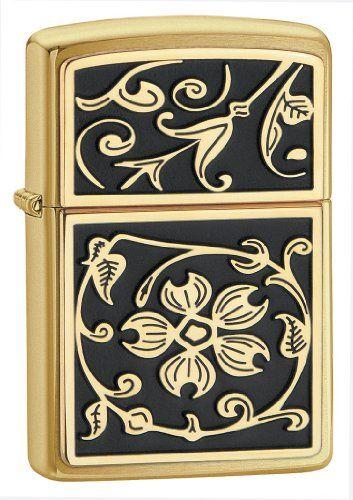 Zippo Feuerzeug, Gold Floral Flourish, Emblem