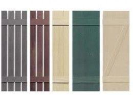 Window shutters from wooden pallets