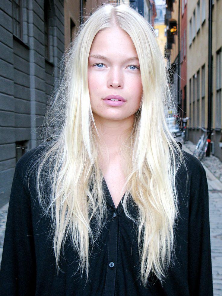 Platinum blonde long