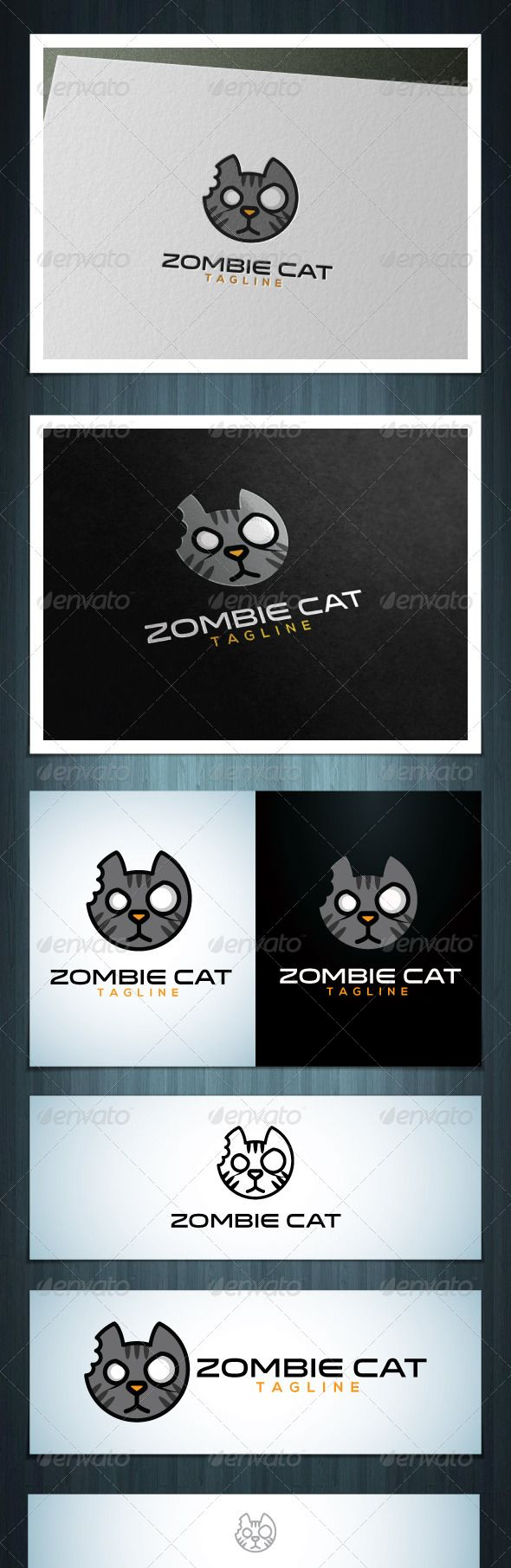 Zombie Cat by Scredeck Zombie Cat is a multipurpose logo, can be used in any companies related to music, blog, zombies, games etc. Ai & EPS 10 / CMYK /