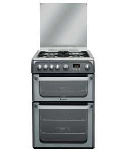Hotpoint HUG61G Double Gas Cooker   It's cheaper on appliancesdirect.  http://www.appliancesdirect.co.uk/p/hud61gs/hotpoint-hud61gs-60cm-dual-fuel-cooker#top