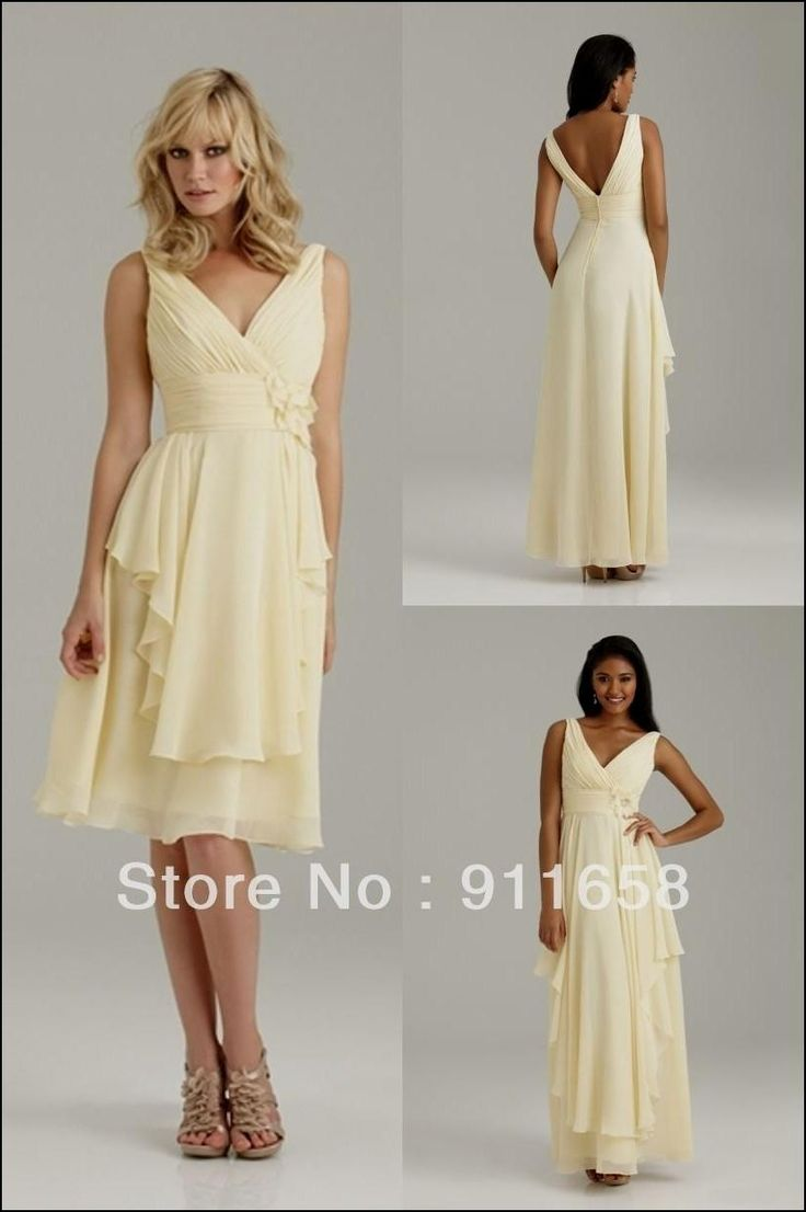 The 25 best pale yellow dresses ideas on pinterest yellow pale yellow chiffon bridesmaid dress ombrellifo Images