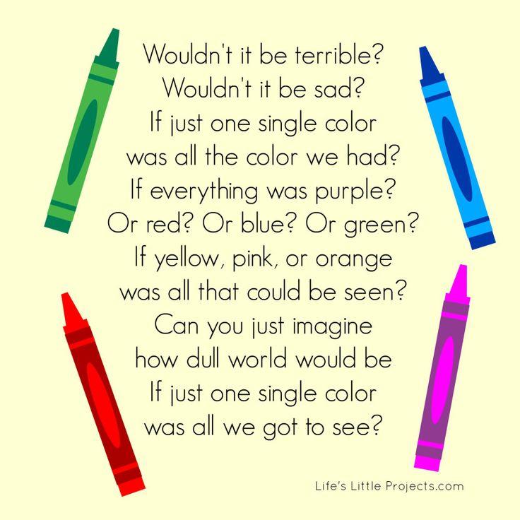 crayons diversity activity