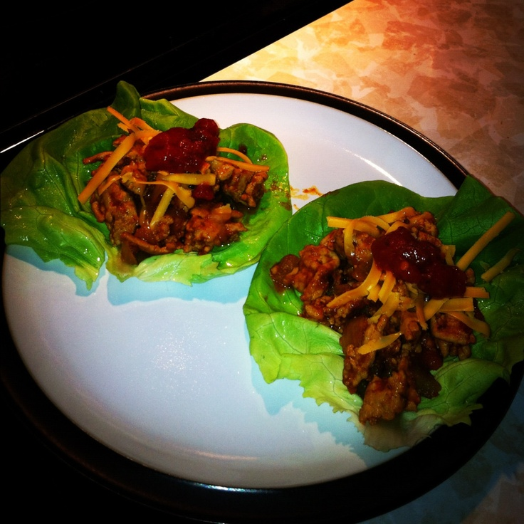 Turkey Taco Lettuce Wraps | Recipes~On the healthy side | Pinterest
