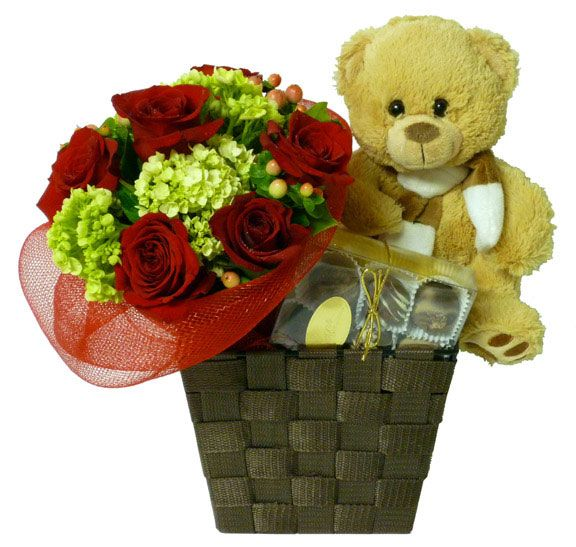A beautiful bouquet of roses and a teddy bear to recognize that special someone in your life. Order yours from Ottawa Flowers today!    Happy Valentine's Day!