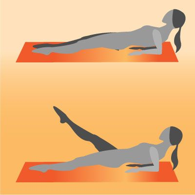 Exercises to Do When Traveling:  Reverse Elbow Plank With Leg Lifts    Looking for a tough exercise that will work your shoulders, legs, and abs? A Reverse Elbow Plank With Leg Lifts is the move for you. Trust us, it's definitely a challenge to keep your hips up while you lift your legs.