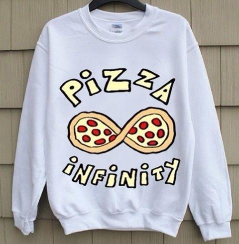 2014 Harajuku Pizza Infinity Sweatshirt Jumper
