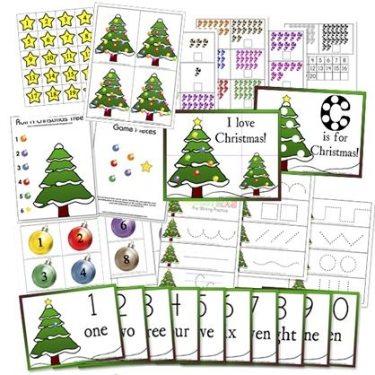 Confessions of a Homeschooler has two fun sets of free Christmas preschool printables available to download. Christmas Preschool Activity Pac