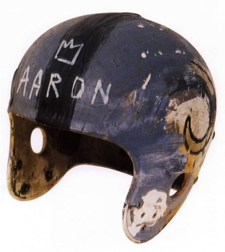 Jean Michel Basquiat's Helmet