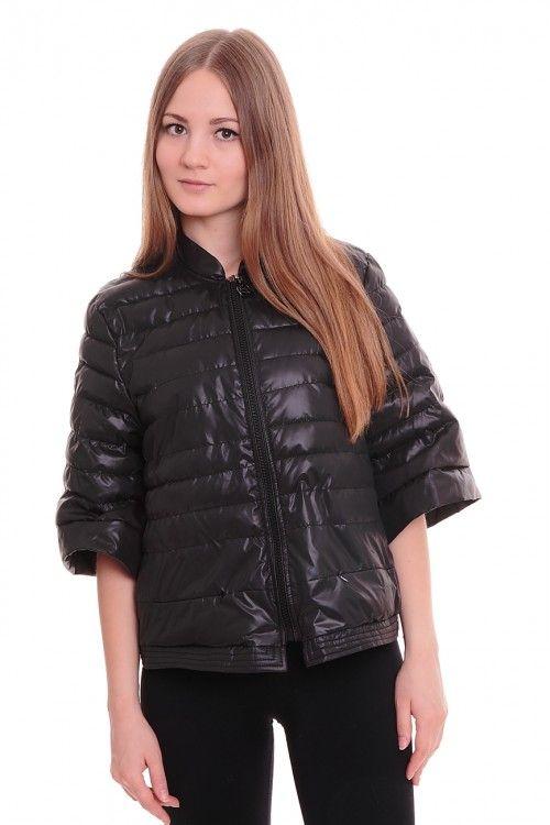 Куртка А5305 Размеры: 42-50 Цвет: черный Цена: 1500 руб.  http://optom24.ru/kurtka-a5305/  #одежда #женщинам #куртки #оптом24